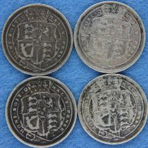 Four silver sixpences of George III. P&P Group 1 (£14+VAT for the first lot and £1+VAT for