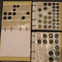 Three part filled albums of British coins, George I - Elizabeth II. P&P Group 1 (£14+VAT for the
