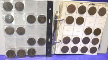 Collection of copper pennies; Queen Victoria to Elizabeth II. Not available for in-house P&P,