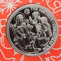2016 Christmas Nativity uncirculated 999 fine silver £20. P&P Group 1 (£14+VAT for the first lot and