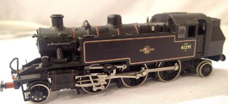 Bachmann 2.6.2.T Black 41291, Late Crest, in good condition, no couplings, unboxed. P&P Group 1 (£