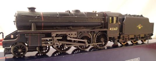 Hornby rename/number Class 5, 45367, Late Crest, BR Black, in good to very good condition, DCC