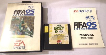 Cased mega drive Fifa 95 soccer games cartridge. P&P Group 1 (£14+VAT for the first lot and £1+VAT
