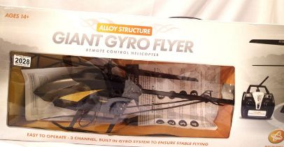 Giant giro flyer remote controlled helicopter. Not available for in-house P&P, contact Paul O'Hea at