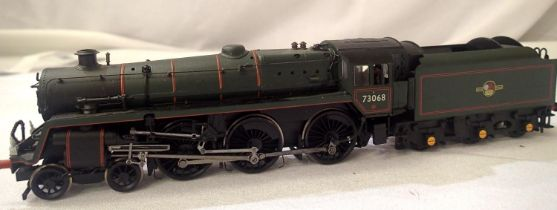 Bachmann Class 4, BR Green 73068, Late Crest, DCC fitted no. 68, detail fitted, in very good to