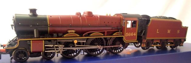 Bachman 31-187 Jubilee Class, 5664 Nelson LMS Crimson, in very near mint condition, boxed. P&P Group