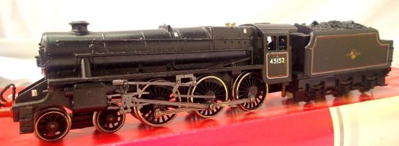 Class 5, BR Black, Late Crest, renumbered to 45152, in fair condition, damaged cab steps, painted