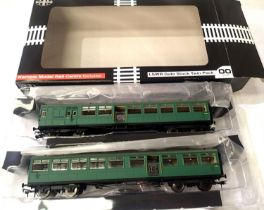 LSWR Gate Stock twin pack coaches set 373, B.R. Green, Vernon Model Rail exclusive in very near mint