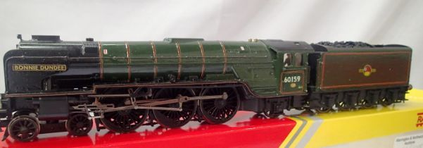 Hornby repaint/renumber/name 60159, Bonnie Dundee, BR Green, Late Crest, in fair to good