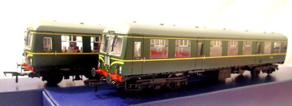 Bachmann 31-326 Class 105, 2 car DMU Green speed whiskers, Kings Cross - Welwyn Garden City