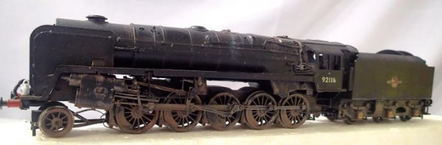 Bachmann 9F, 92116, BR Black, Late Crest, heavily weathered, detailed, good condition, unboxed,