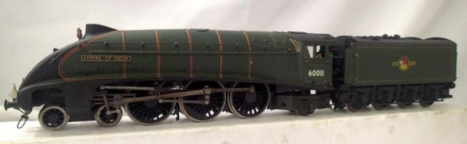 Bachmann rename/number, 60011, Empire Of India, BR Green, Late Crest, modified wiring, detail