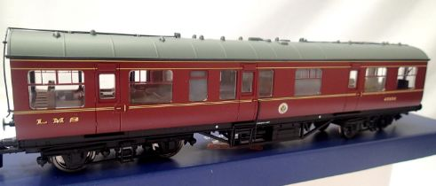 Bachmann 39-775, Soft Inspection Saloon, L.M.S. Crimson Lake, in very near mint condition, boxed.