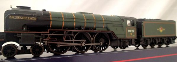 Hornby rename/number, 60126, Sir Vincent Raven, BR Green, Late Crest, DCC fitted no. 6 , detail