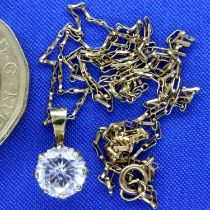 *** WITHDRAWAN *** 9ct gold pendant on a 9ct gold chain, by G & T Jewellers, 1.7g. P&P Group 1 (£1