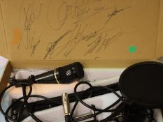 Zingyou BM 800 boxed microphone with undetermined signatures on the outer, and inner of the box. P&P
