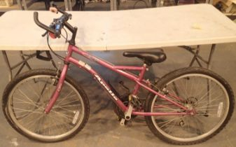 Girls Apollo Siren 15 gear 14'' frame trail bike. Not available for in-house P&P, contact Paul O'Hea