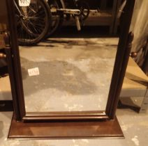 Stag dressing table mirror. Not available for in-house P&P, contact Paul O'Hea at Mailboxes on 01925