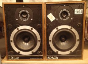Pair of atom 40w 80hm shelf speakers. Not available for in-house P&P, contact Paul O'Hea at