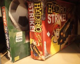 Super Striker football game and hydro strike. Not available for in-house P&P, contact Paul O'Hea