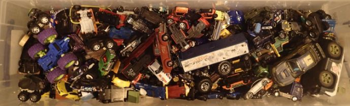 Large box of approxmalty 300 model vehicles. Not available for in-house P&P, contact Paul O'Hea at