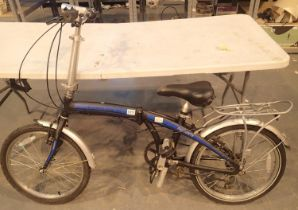Ammaco Pakka Lite SE folding shopping bike 12'' frame six gear. Not available for in-house P&P,