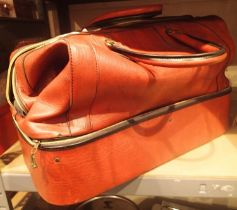 Vintage leather effect zip up holdall. Not available for in-house P&P, contact Paul O'Hea at