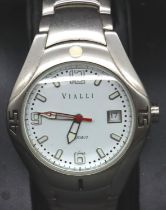 Vialli; gents boxed stainless steel wristwatch, working at lotting. P&P Group 1 (£14+VAT for the