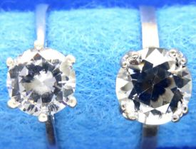Two 925 silver solitaire rings, sizes Q and S. P&P Group 1 (£14+VAT for the first lot and £1+VAT for