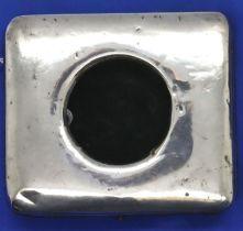 Hallmarked silver pocket watch easel back display case, Birmingham assay 1912, 9.5 x 8.5 x 2.5 cm,