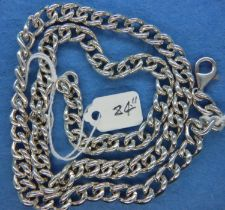 925 silver heavy gents neck chain, L: 61 cm. P&P Group 1 (£14+VAT for the first lot and £1+VAT for