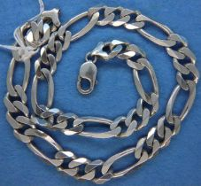 925 silver heavy neck chain, L: 46 cm. P&P Group 1 (£14+VAT for the first lot and £1+VAT for