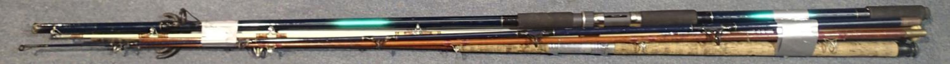 Shakespeare composite beech caster with other rods and rests. Not available for in-house P&P,