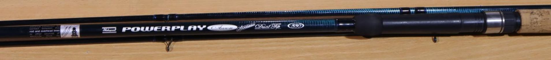 Shakespeare 3.30 metre tip rod, two tips. P&P Group 3 (£25+VAT for the first lot and £5+VAT for