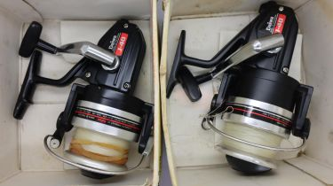 Two Daiwa J40 boxed fixed spool reels. P&P Group 2 (£18+VAT for the first lot and £3+VAT for
