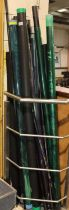 Collection of part poles and fishing tubes. Not available for in-house P&P, contact Paul O'Hea at