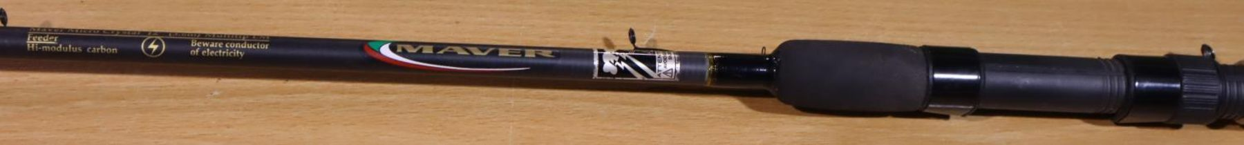Mauer 12ft tip rod (one tip present only). P&P Group 3 (£25+VAT for the first lot and £5+VAT for