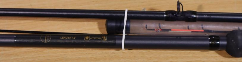 Beast Master 12ft feeder rod. P&P Group 3 (£25+VAT for the first lot and £5+VAT for subsequent lots)