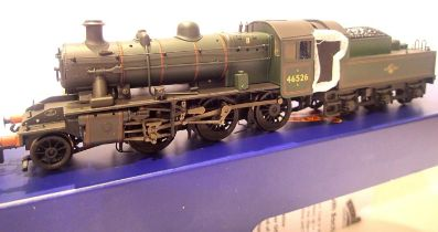 Bachmann 32-828 A, Class 2MT Ivatt, 46526, BR Green, Late Crest, weathered, in very near mint