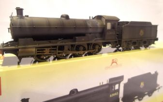 Hornby R3425 Class Q6, BR Black 63443, professionally weathered, in excellent to very near mint