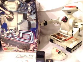 Boxed RAD Robot in working condition, lacking one missile. Not available for in-house P&P, contact