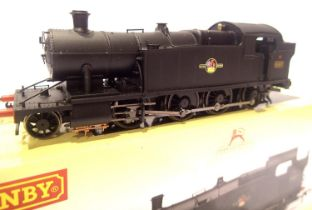 Hornby R3223, Class 42xx, 4257, BR Black, Late Crest, in very near mint condition, boxed. P&P