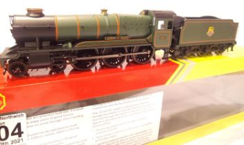 Hornby R3279 County Class, 1016, County Of Hearts, BR Green, Early Green, in very near mint