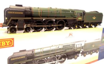 Hornby R3191, Class 8P, Duke Of Gloucester 71000 BR Green, Late Crest, in very near mint