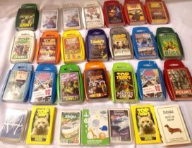 Twenty eight Top Trumps sets of cards, mostly in plastic packs. P&P Group 2 (£18+VAT for the first