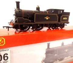 Hornby R3626, Class M7, BR Black, 30023, Late Crest, detail fitted, in excellent condition, boxed.