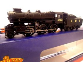 Bachmann 32-575A, Ivatt Class LMS Black, 3000, in very near mint condition, boxed. P&P Group 1 (£