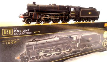 Hornby R3805, Class 5MT, 45379, BR Black, Late Crest, The One One Collection, limited edition 0527/