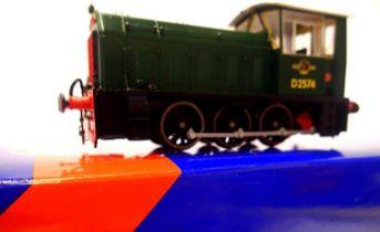 Heljan 2500, Class 05 Shunter, D2574, BR Green, Late Crest, cab steps detached/present no detail
