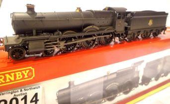 Hornby R2548 Grange Class rename/number, 6813 Eastbury Grange, BR Black, Early Crest, weathered,